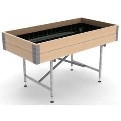 Mesa de cultivo de madera - 1.5m
