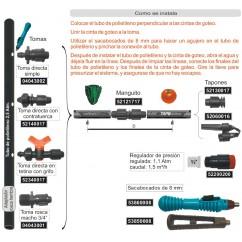 Connexiío directa de tuberia de PE a cinta de reg