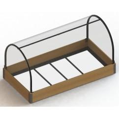 Kit de minitúnel para mesa de cultivo madera