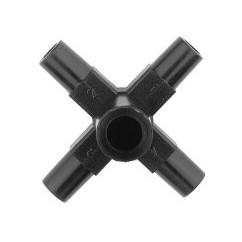 Cruz conexión cónica Ø 6mm.