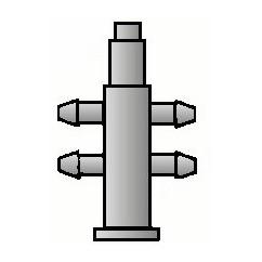 Distribuidor 4 salidas Manifold