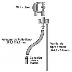 Conjunto mini Ster+tubo+varilla 1,25m.+T M/H